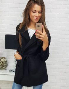 damski płaszcz czarny